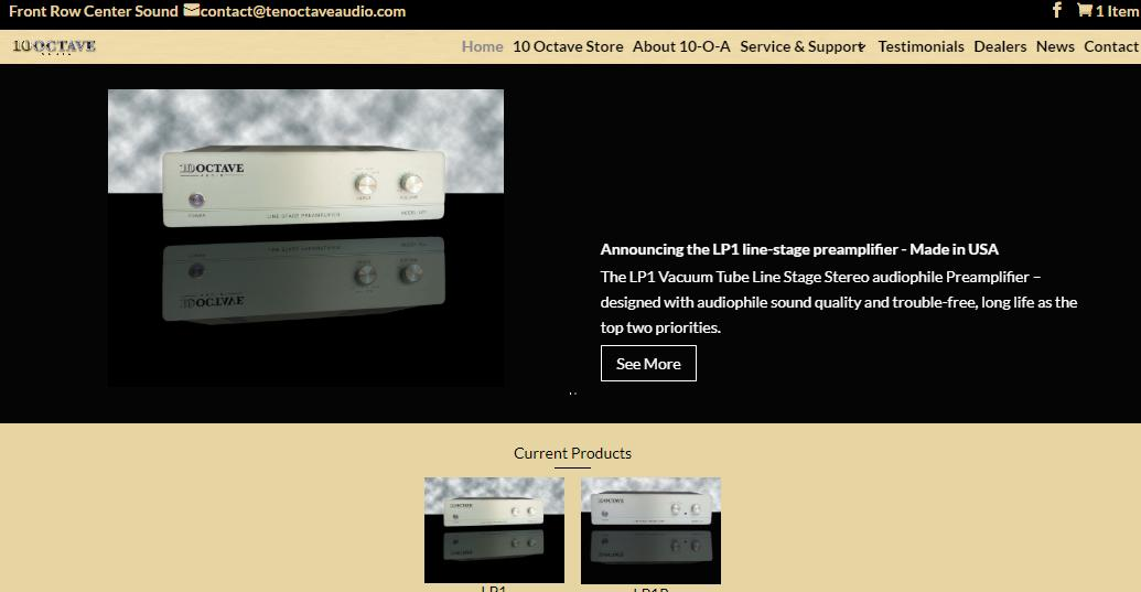 Ten Octave Audio Opens Website and Store for Audiophiles